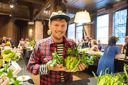 Eric Budzinski of Uprising Seeds with puntarelle