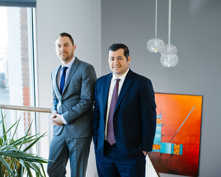 20 November 2018– Justin High and Frank Younes and two other attorneys are photographed at High & Younes Attorney's as the faces of  Family Law and Workers Compensation Law for FACES 2019.