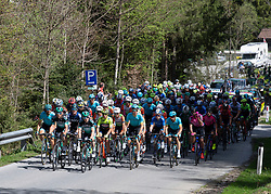 22.04.2019, Kufstein, AUT, Tour of the Alps, 1. Etappe, Kufstein - Kufstein, 144km, im Bild // das Peloton at Maria Stein during the 1st Stage of the Tour of the Alps Cyling Race from Kufstein to Kufstein (144km) in in Kufstein, Austria on 2019/04/22. EXPA Pictures © 2019, PhotoCredit: EXPA/ Reinhard Eisenbauer