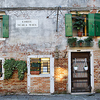"VENICE, ITALY - NOVEMBER 15:  A general view of one of the traditional houses seen in one of the ""calli"" of the Ghetto on November 15, 2011 in Venice, Italy. Established in 1516 the Ghetto of Venice was the area were Jews were compelled to live during the Venetian Republic. The English term 'ghetto' is derived from the Venetian term for 'slag' and refers to the refuse left the foundry that was located on the same island. In present times the ghetto is a multi-ethnical area area seen as the cultural heart of the city, but with five synagogues remains the centre of the of Jewish community."