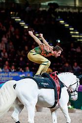 BRÜSEWITZ Viktor (GER), Claus<br /> Leipzig - Partner Pferd 2018   <br /> FEI World Cup Vaulting Herren 1. Umlauf <br /> © www.sportfotos-lafrentz.de/Stefan Lafrentz