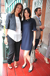 Left to right, LULU KENNEDY and MARY McCARTNEY at a lunch to celebrate the the Lulu & Co Autumn/Winter 2011 collection held at Harry's Bar, 26 South Audley Street, London W1 on 21st June 2011.