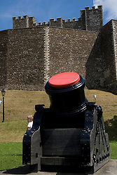 Dover/Kent/England - The Castle. Dover is a major port on the south-east coast of England. Situated in the county of Kent, it faces France across the English Channel.