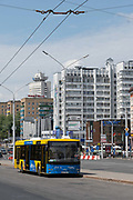 The central transport hub for the European Games on the 20th June 2019 in Minsk in Belarus. The 2nd European Games is held in Minsk, Belarus from the 21st June to the 30th June.