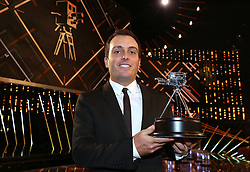 Francesco Molinari poses with his World Sport Star of the Year Award during the BBC Sports Personality of the Year 2018 at Birmingham Genting Arena.