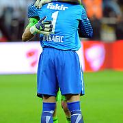 Besiktas's goalkeeper Rustu RECBER (B) during their Turkey Cup final match Besiktas between Istanbul BB at the Kadir Has Arena at Kayseri Turkey on wednesday, 11 May 2011. Photo by TURKPIX