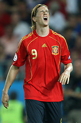 Fernando Torres of Spain (9) during the UEFA EURO 2008 Quarter-Final soccer match between Spain and Italy at Ernst-Happel Stadium, on June 22,2008, in Wien, Austria. Spain won after penalty shots 4:2. (Photo by Vid Ponikvar / Sportal Images)
