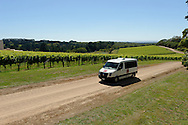 Red Hill shuttle in vineyard.<br />