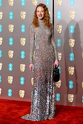 Zoe Boyle attending the 72nd British Academy Film Awards held at the Royal Albert Hall, Kensington Gore, Kensington, London.