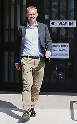 Liberal Democrat leader Tim Farron visits the Allithwaite Community Centre in Allithwaite, Cumbria, as voters go to the polls in local elections across the country.