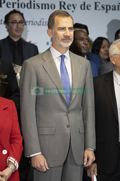 April 30, 2019 - Madrid, Spain - King Felipe VI of Spain  during the awarding ceremony of the King of Spain Journalism Awards held in Madrid, Spain, 30 April 2019. The awards, organized by Efe news agency and the Spanish Agency for International Development Cooperation (AECID), distinguishes the work of journalists from different countries. (Credit Image: © Oscar Gonzalez/NurPhoto via ZUMA Press)