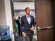 21 AUGUST 2019 - ALTOONA, IOWA: Former Congressman BETO O'ROURKE (D-TX) walks into the Iowa Federation of Labor convention. Many of the Democratic presidential candidates are addressing the Iowa Federation of Labor convention at the Prairie Meadow Casino in Altoona. They are hoping to secure labor support before the Iowa Caucuses on Feb. 3, 2020.      PHOTO BY JACK KURTZ