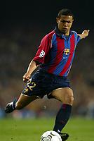 Fotball. UEFA Champions League. Første semifinale. 23.04.2002.<br /> Barcelona v Real Madrid 0-2.<br /> Geovanni, Barcelona.<br /> Foto: David Rawcliffe, Digitalsport