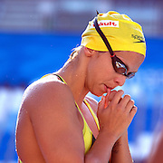 Libby Trickett, Australia, at warm up before competing in the Women's 100m freestyle heats at the World Swimming Championships in Rome on Thursday, July 30, 2009. Photo Tim Clayton.
