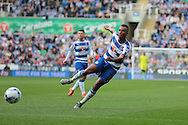 Reading midfielder Jordan Obita during the Sky Bet Championship match between Reading and Middlesbrough at the Madejski Stadium, Reading, England on 3 October 2015. Photo by Jemma Phillips.