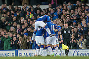 Everton celebrate Aaron Lennon's (Everton) goal during the Barclays Premier League match between Everton and Newcastle United at Goodison Park, Liverpool, England on 3 February 2016. Photo by Mark P Doherty.