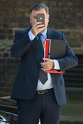 London, UK. 23 July, 2019. Mel Stride MP, Lord President of the Council and Leader of the House of Commons, arrives at 10 Downing Street for the final Cabinet meeting of Theresa May's Premiership. The name of the new Conservative Party Leader, and so the new Prime Minister, will be announced at a special event following the meeting.