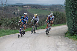 The breakaway three on make their way back to Siena to contest the podium spots - 2016 Strade Bianche - Elite Women, a 121km road race from Siena to Piazza del Campo on March 5, 2016 in Tuscany, Italy.