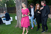 LAURA BAILEY; CHARLOTTE TILBURY, 2009 Serpentine Gallery Summer party. Sponsored by Canvas TV. Serpentine Gallery Pavilion designed by Kazuyo Sejima and Ryue Nishizawa of SANAA. Kensington Gdns. London. 9 July 2009.