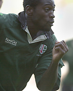 Reading Berkshire, 29/09/02<br /> London Irish vs Wasps,<br /> Exiles, Paul SACKEY, during the ZURICH PREMIERSHIP RUGBY match at the, Madejski Stadium,  [Mandatory Credit: Peter Spurrier/Intersport Images],