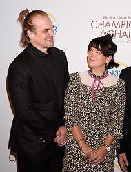 """Skin Cancer Foundation """"Champions For Change Gala"""" The Plaza Hotel, NY. 17 Oct 2019 Pictured: David Harbour, Lily Allen. Photo credit: RCF / MEGA TheMegaAgency.com +1 888 505 6342"""