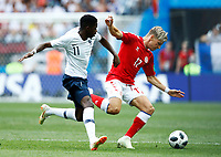 Ousmane Dembele (France) and Larsen Jens Stryger (Denmark) <br /> Moscow 26-06-2018 Football FIFA World Cup Russia  2018 <br /> Denmark - France / Danimarca - Francia<br /> Foto Matteo Ciambelli/Insidefoto