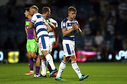 Queens Park Rangers' Jake Bidwell applauds the fans at the end of the Sky Bet Championship match at Loftus Road, London.