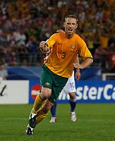 Photo: Glyn Thomas.<br /> Croatia v Australia. Group F, FIFA World Cup 2006. 22/06/2006.<br /> Australia's Craig Moore celebrates.