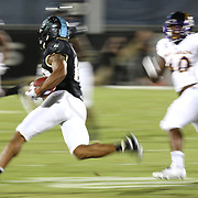 ORLANDO, FL - OCTOBER 14: Mike Hughes #19 of the UCF Knights runs with the ball during a NCAA football game between the East Carolina Pirates and the UCF Knights at Spectrum Stadium on October 14, 2017 in Orlando, Florida. (Photo by Alex Menendez/Getty Images)