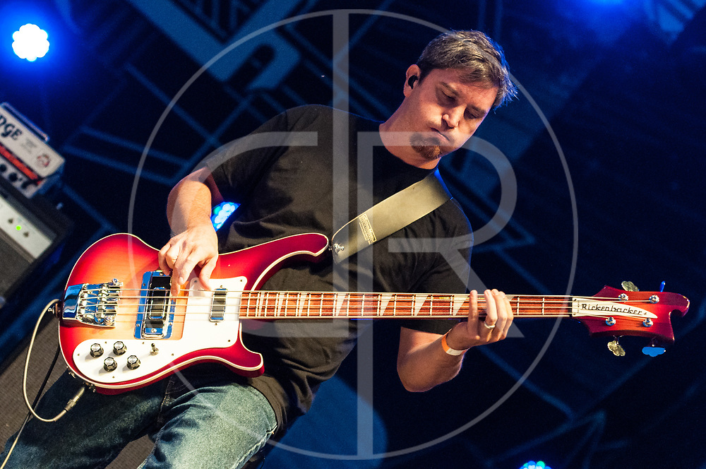 BALTIMORE United States - September 14, 2013: Dan Maines of Clutch, performs at The Shindig, in Baltimore's historic Carroll Park