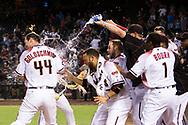 PHOENIX, ARIZONA - AUGUST 22: The D-backs defeat the Braves 9-8. (Photo by Sarah Sachs/Arizona Diamondbacks)