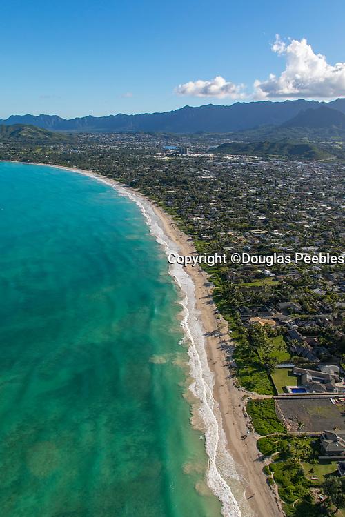 Aerial, Kailua Beach, Kailua, Oahu, Hawaii