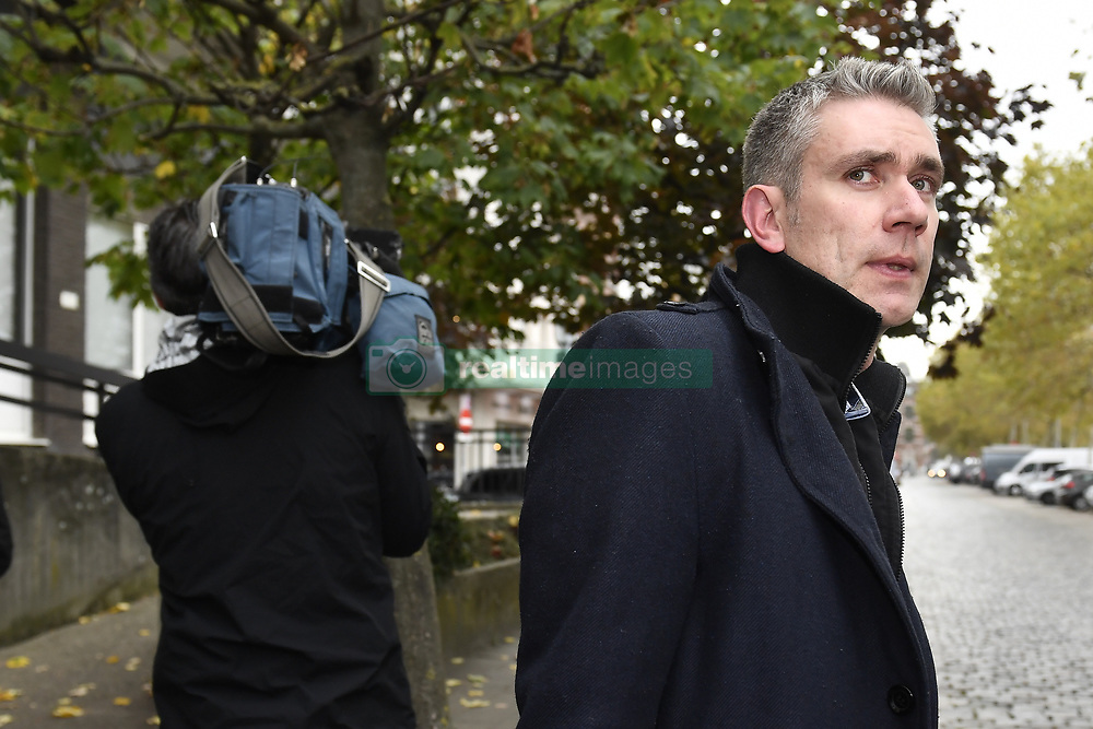 October 26, 2018 - Tongeren, BELGIUM - lawyer Pieter Helsen pictured at a session at the Antwerp Court with the appearance of eight suspects in the football fraud case, Friday 26 October 2018. Several suspects in a large investigation into tax evasion, money laundering and possible match fixing in Belgian first division soccer competition were arrested in 'Operatie Propere Handen' (Operation Clean Hands)...BELGA PHOTO DIRK WAEM (Credit Image: © Dirk Waem/Belga via ZUMA Press)