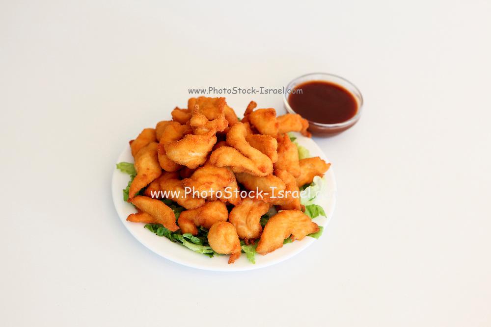 Deep fried breaded chicken