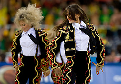 Ukrainian cheerleading group Red Foxes during the EuroBasket 2009 Group F match between Spain and Lithuania, on September 14, 2009 in Arena Lodz, Hala Sportowa, Lodz, Poland.  (Photo by Vid Ponikvar / Sportida)