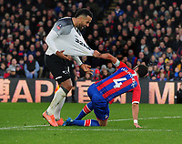 Football - 2019 / 2020 Emirates FA Cup - Third Round: Crystal Palace vs. Derby County<br /> <br /> Luka Milivojevic of Palace pulls the shirt of Tom Huddlestone which resulted in Milivojevic receiving the card card, at Selhurst Park.<br /> <br /> COLORSPORT/ANDREW COWIE