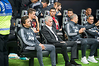 Football - 2017 / 2018 Premier League - Swansea City vs. Manchester United<br /> <br /> Manchester Utd manager Jose Mourinho & the utd bench—<br /> , at Liberty Stadium.<br /> <br /> COLORSPORT/WINSTON BYNORTH