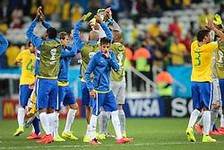Equipe do Brasil na estréia da Copa do Mundo 2014, na Arena Corinthians, em São Paulo. FOTO: Jefferson Bernardes/ Agência Preview