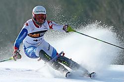 Sandro Villeta at first run of 9th men's slalom race of Audi FIS Ski World Cup, Pokal Vitranc,  in Podkoren, Kranjska Gora, Slovenia, on March 1, 2009. (Photo by Vid Ponikvar / Sportida)