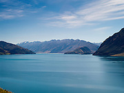 View of Lake Hawea, northeast of Wanaka, Otago, New Zealand