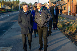Pictured: Derek Mackay chats to Sir Tom Hunter<br /> Finance Secretary Derek Mackay headed to Winchburgh today to meet developers of new 3,450-home village. As well as the new homes, schools and other associated infrastructure will be built at Winchburgh. Derek Mackay met Sir Tom Hunter and Local MSP, Fiona Hyslop, the developers and West Lothian Council officials.<br /> <br /> Ger Harley   EEm 17 January 2019