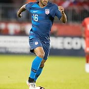 EAST HARTFORD, CONNECTICUT- October 16th:  Julian Green #16 of the United States in action during the United States Vs Peru International Friendly soccer match at Pratt & Whitney Stadium, Rentschler Field on October 16th 2018 in East Hartford, Connecticut. (Photo by Tim Clayton/Corbis via Getty Images)