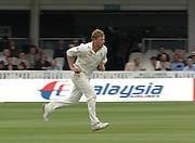 Lord's London, 1st NPower Test   England v New Zealand.  Andrew FLINTOFF,  bowling, 20/05/2004 <br /> [Credit Peter Spurrier Intersport Images}