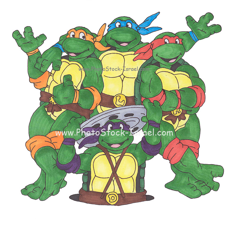 Kwabanga! - Teenage mutant ninja turtles fan art markers on paper