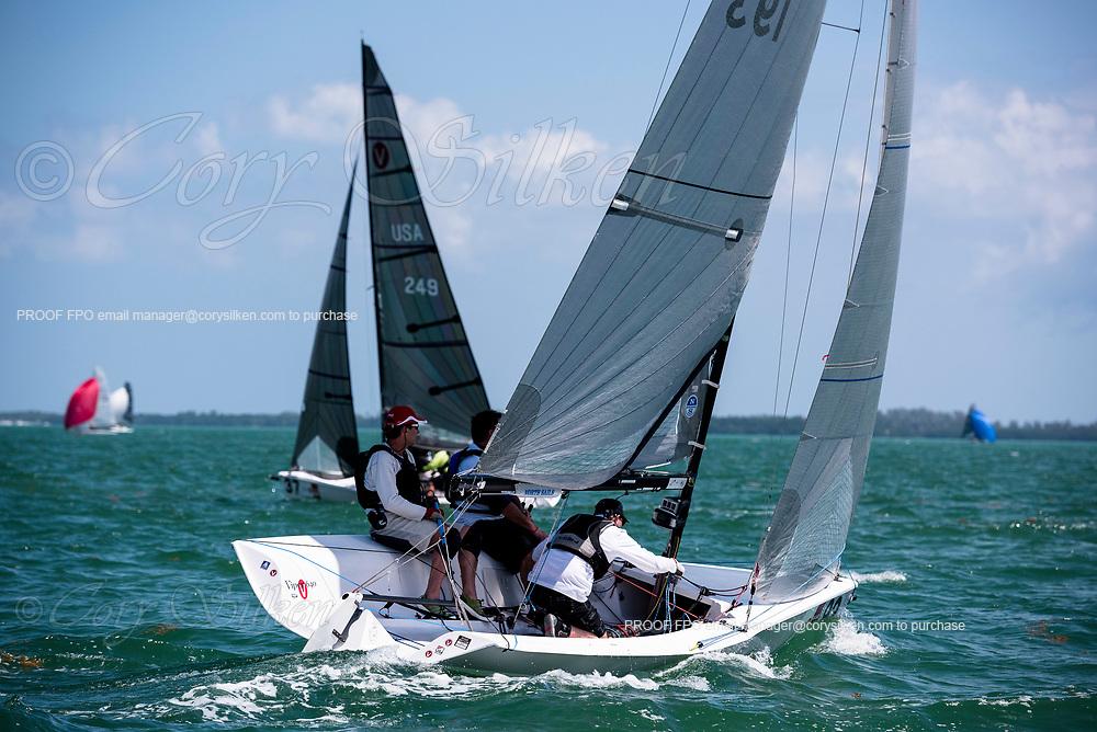 193 Viper 640 Class sailing in Bacardi Miami Sailing Week.