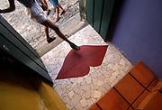 Inset Lips in Entryway Floor, 30 Jul 1996, Salvador, Bahia, Brazil