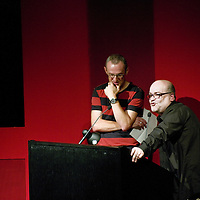 Russ Bestley and Alex Ogg<br /> On stage at the Stoke Newington Literary Festival. 9 June 2014<br /> <br /> Picture by David X Green/Writer Pictures