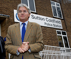 © Licensed to London News Pictures. 20/12/12. Sutton Coldfield, West Midlands, UK.  Former Conservative chief whip, Andrew Mitchell arriving at Sutton Coldfield Police Station to meet members of the local police force. Photo credit : Dave Warren/LNP