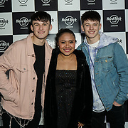 Hard Rock Cafe London, England, UK. 4th Dec 2017. X Factor Sean Price,Alisah Bonaobar,Conor Price Arrivals at Fight For Life Charity Event of Christmas festivities and entertainment for children with cancer.