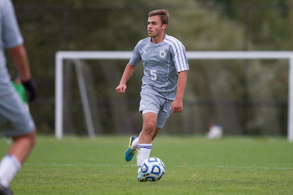 Dan Vogel, of Colby College, in a NCAA Division III soccer game against Southern Maine on September 24, 2013 in Waterville, ME. (Dustin Satloff/Colby College Athletics)